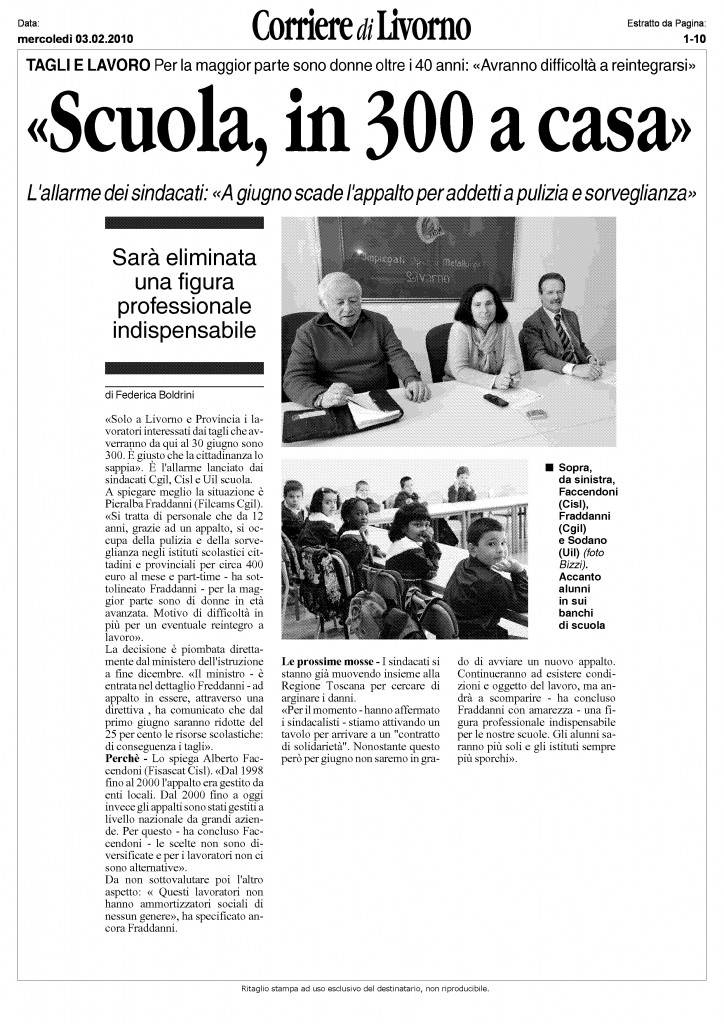 ART SCUOLA CORRIERE DI LIVORNO
