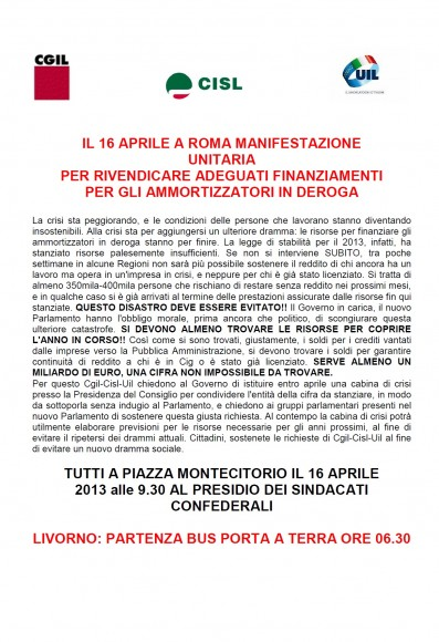 manifestazione 16 apr