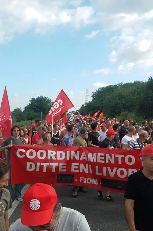 sciopero Eni