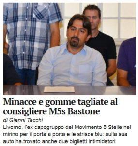 Minacce al consigliere comunale Francesco Bastone,  massima solidarietà e vicinanza della Cgil Livorno