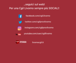 Facebook, Instagram, Twitter, YouTube: segui la Cgil provincia di Livorno sui social network!