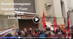 Aferpi Piombino, lavoratori in presidio davanti al Ministero dello sviluppo economico. Il video dell'intervento di David Romagnani
