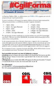 #CgilForma: corso di preparazione al concorso per impiegati al Comune di Livorno