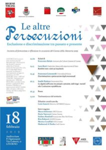 "18 febbraio, ore 15, Livorno: ""Le altre persecuzioni: esclusione e discriminazione tra passato e presente. Incontro di formazione in occasione del Giorno della Memoria 2019"""
