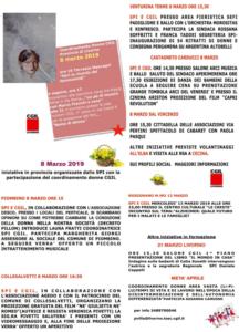 8 Marzo, Festa della Donna: le iniziative organizzate dallo Spi-Cgil provincia di Livorno e dal Coordinamento donne Cgil