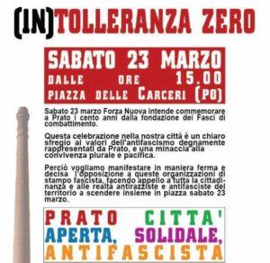 """La Cgil Livorno aderisce alla manifestazione antifascista di Prato: """"Alle provocazioni fasciste risponderemo sempre con la nostra Resistenza"""""""