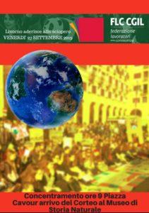 27 SETTEMBRE, FLC-CGIL ADERISCE ALLO SCIOPERO GLOBALE PER L'AMBIENTE: CORTEO A LIVORNO