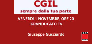 🔴VENERDÌ 1 NOVEMBRE, ORE 20: GIUSEPPE GUCCIARDO A GRANDUCATO TV