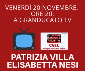 VENERDÌ 20 NOVEMBRE, ORE 20: A GRANDUCATO TV PATRIZIA VILLA E ELISABETTA NESI