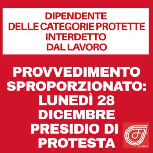 """DIPENDENTE DELLE CATEGORIE PROTETTE INTERDETTO DAL LAVORO, GUCCIARDO (FILT-CGIL): """"PROVVEDIMENTO SPROPORZIONATO"""". LUNEDI' 28 DICEMBRE PRESIDIO DI PROTESTA"""