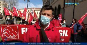 PRESIDO FILCAMS-CGIL DAVANTI ALL'UFFICIO SCOLASTICO PROVINCIALE, IL SERVIZIO DI GRANDUCATO TV