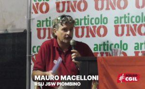 """""""JSW PIOMBINO, FONDAMENTALE TORNARE A PRODURRE ACCIAIO"""": L'INTERVENTO DI MAURO MACELLONI ALLA FESTA REGIONALE DI ARTICOLO UNO A LIVORNO (VIDEO)"""