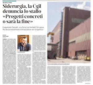 """""""SIDERURGIA PIOMBINESE, PROGETTI CONCRETI O SARÀ LA FINE"""": L'INTERVENTO DI FABRIZIO ZANNOTTI SUL TIRRENO DI PIOMBINO"""