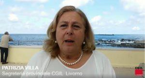 Collisione tra navi, l'intervento di Patrizia Villa (Cgil Livorno) e Maurizio Brotini (Cgil Toscana)