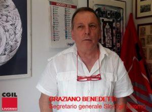 """Vertenza """"The Space"""", l'intervento video del segretario generale Slc-Cgil Livorno Graziano Benedetti: """"Avanti con gli scioperi"""""""