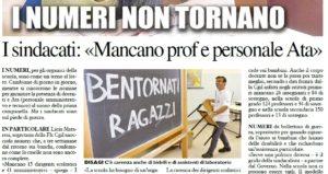 """Organici scuola, Mataresi (Flc-Cgil): """"Mancano ancora prof e personale Ata. Serve una politica diversa"""""""