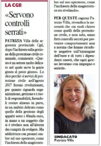 """Inchiesta su Protezione civile e appalti truccati, l'intervento di Patrizia Villa su """"Il Telegrafo"""""""