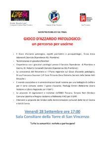 """Spi-Cgil San Vincenzo, il 28 settembre incontro pubblico sul gioco d'azzardo patologico: """"Un percorso per uscirne"""""""