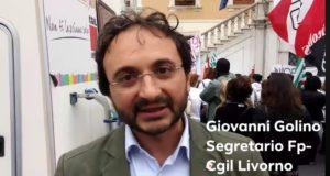 """""""No alla chiusura del Pascoli!"""". Manifestazione di protesta sotto il Comune di Livorno. Il video di Giovanni Golino (Fp-Cgil)"""