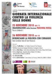 """Giornata internazionale contro la violenza sulle donne, inaugurazione a San Vincenzo della stazione """"Panchina Rossa"""""""