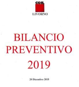 Cgil provincia di Livorno, on-line il Bilancio preventivo 2019. Il link per scaricarlo e consultarlo.