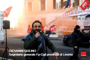 """Sciopero lavoratori Aamps, l'intervento video di Giovanni Golino (Fp-Cgil): """"Difendere il servizio pubblico e stabilizzare i precari"""""""