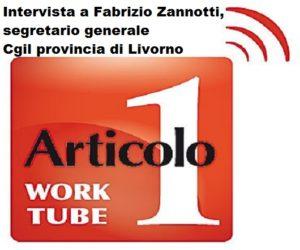 Piano del lavoro 2019 della Cgil provincia di Livorno, il segretario generale Fabrizio Zannotti intervistato da RadioArticolo1