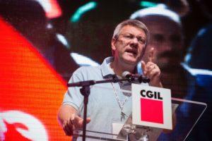 Manifestazione 9 febbraio a Roma, l'appello del segretario generale Cgil Maurizio Landini