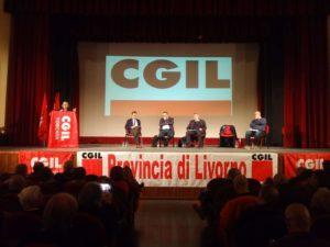 Piano del lavoro 2019 Cgil provincia di Livorno, l'intervento di Fabrizio Zannotti e Maurizio Landini