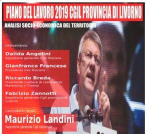"""16 gennaio, ore 15, Teatro Quattro Mori di Livorno: presentazione del """"Piano del lavoro 2019"""" della Cgil provincia di Livorno. Presente Maurizio Landini"""