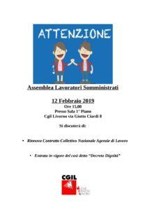 Assemblea lavoratori somministrati, appuntamento a Livorno il 12 febbraio alle ore 15