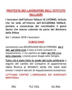"""Livorno, lavoratori Vallauri in presidio il 12-13 febbraio: """"Inaccettabile il taglio del 30% dello stipendio"""""""