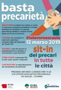 Basta precarietà, stabilizziamo la scuola: il prossimo 12 marzo sit-in davanti all'Ufficio scolastico provinciale di Livorno