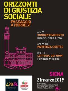 Vittime innocenti delle mafie, la Cgil provincia di Livorno aderisce alla manifestazione regionale di Siena