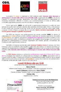 Legalità e lotta alla mafia, lunedì 18 marzo ore 15 a Livorno l'iniziativa di Cgil e Libera