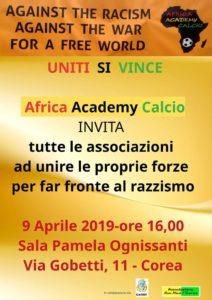 """Martedì 9 aprile a Livorno incontro pubblico organizzato dall'Africa Academy Calcio contro il razzismo. Patrizia Villa: """"La Cgil sarà presente: lo sport è uguaglianza e inclusione"""""""