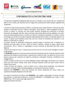 🔴 VENERDÌ 31 GENNAIO SCIOPERO DALLE 9 ALLE 17 DEL PERSONALE ADDETTO AL TRASPORTO MERCI DI MERCITALIA RAIL