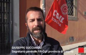 🔴LAVORATORI ALP DI LIVORNO, LE DICHIARAZIONI DI GIUSEPPE GUCCIARDO (FILT-CGIL) DURANTE IL PRESIDIO DI PROTESTA (VIDEO)
