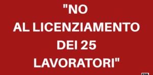 """ITALIAN FOOD, APPELLO DELLA FLAI-CGIL: """"NO AL LICENZIAMENTO DEI 25 LAVORATORI: HANNO SEMPRE DIMOSTRATO SERIETA' E PROFESSIONALITA'"""""""