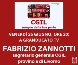 VENERDI' 26 GIUGNO, ORE 20: A GRANDUCATO TV FABRIZIO ZANNOTTI