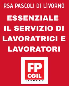 """RSA PASCOLI, FP-CGIL: """"ESSENZIALE IL SERVIZIO DELLE LAVORATRICI E DEI LAVORATORI"""""""