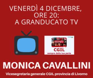 VENERDÌ 4 DICEMBRE, ORE 20: A GRANDUCATO TV MONICA CAVALLINI