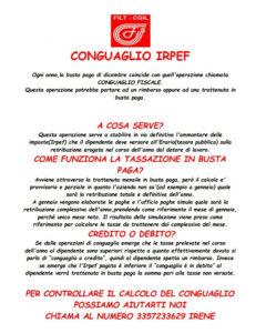 CALCOLO CONGUAGLIO IRPEF, TI AIUTA LA FILT-CGIL! CONTATTACI!