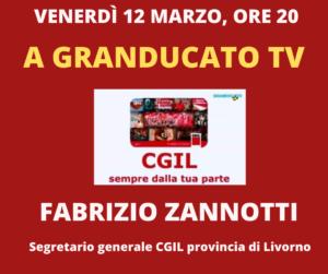 VENERDÌ 12 MARZO, ORE 20: A GRANDUCATO TV FABRIZIO ZANNOTTI