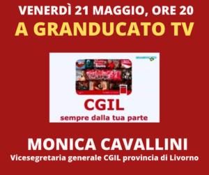 VENERDÌ 21 MAGGIO, ORE 20: A GRANDUCATO TV MONICA CAVALLINI