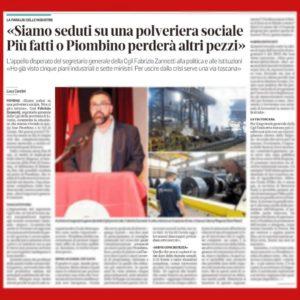 """""""PIOMBINO POLVERIERA SOCIALE"""": SUL TIRRENO IN EDICOLA OGGI L'INTERVISTA A FABRIZIO ZANNOTTI"""